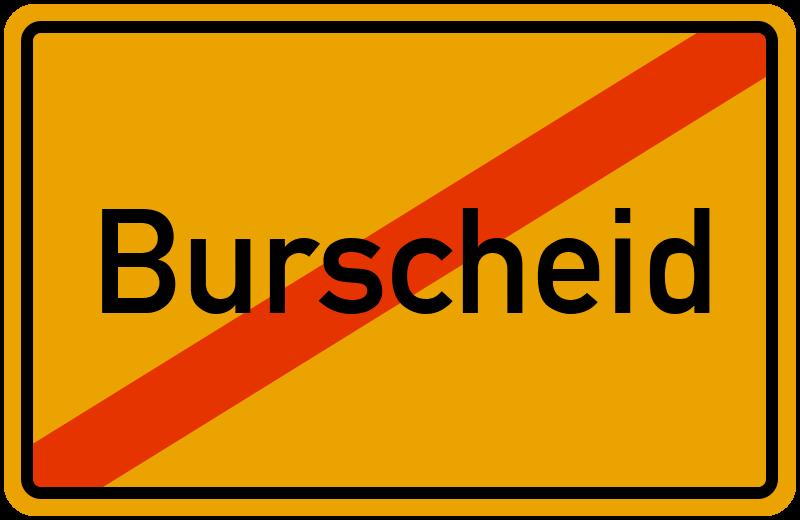 Ortsschild Burscheid