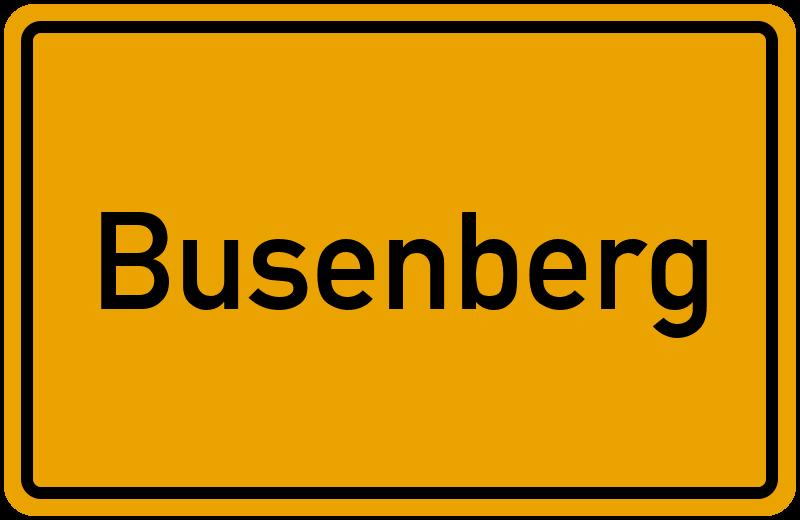 Ortsschild Busenberg