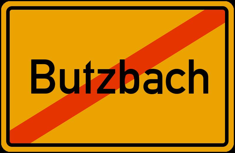 Ortsschild Butzbach