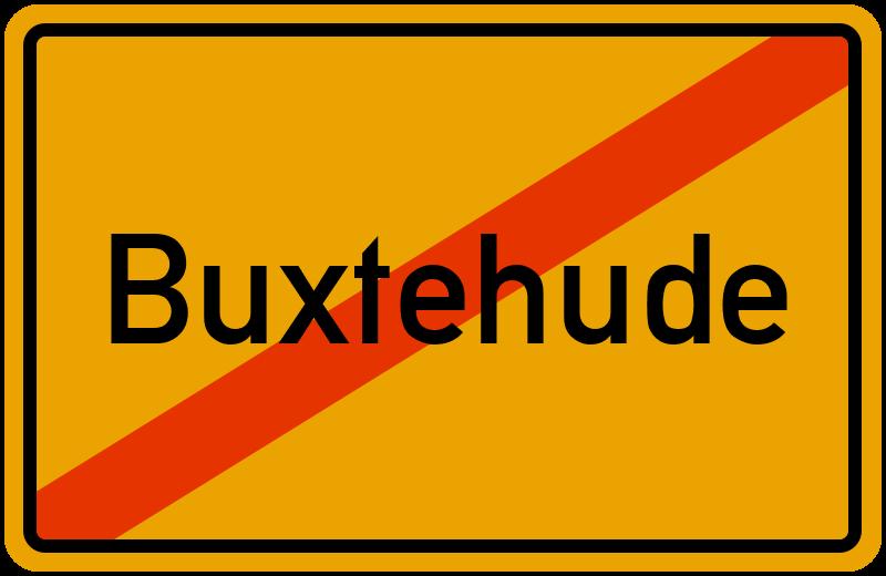 Ortsschild Buxtehude