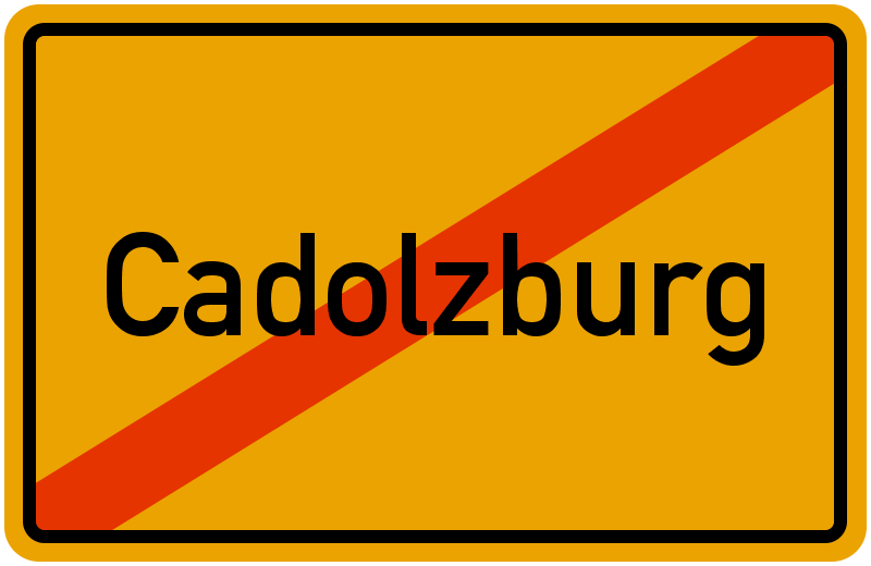Ortsschild Cadolzburg