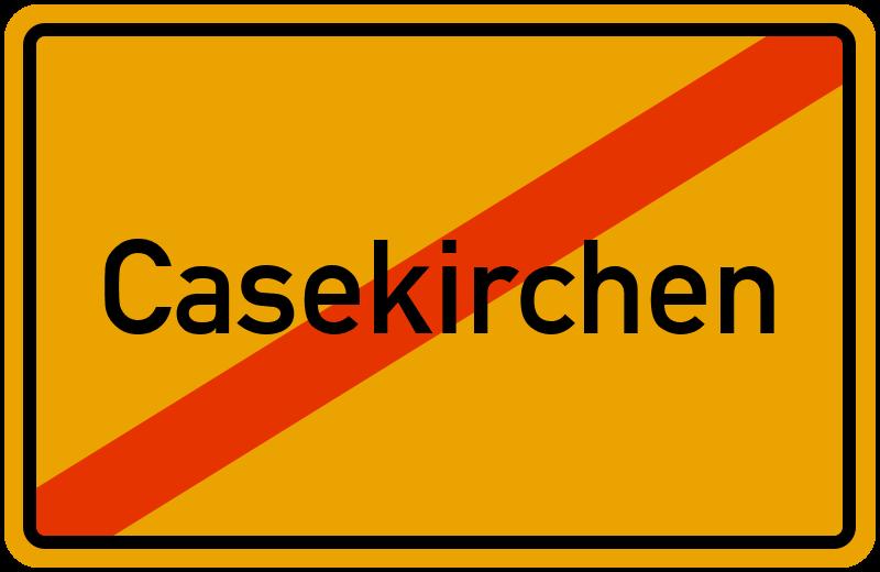 Ortsschild Casekirchen