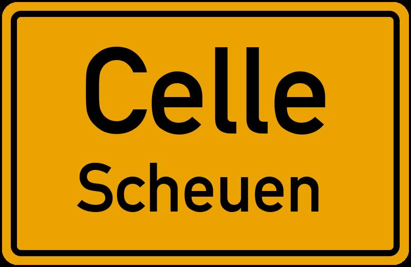 Ortsschild Celle Scheuen Kostenlos Download Drucken