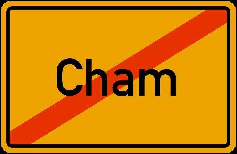 Ortsschild Cham