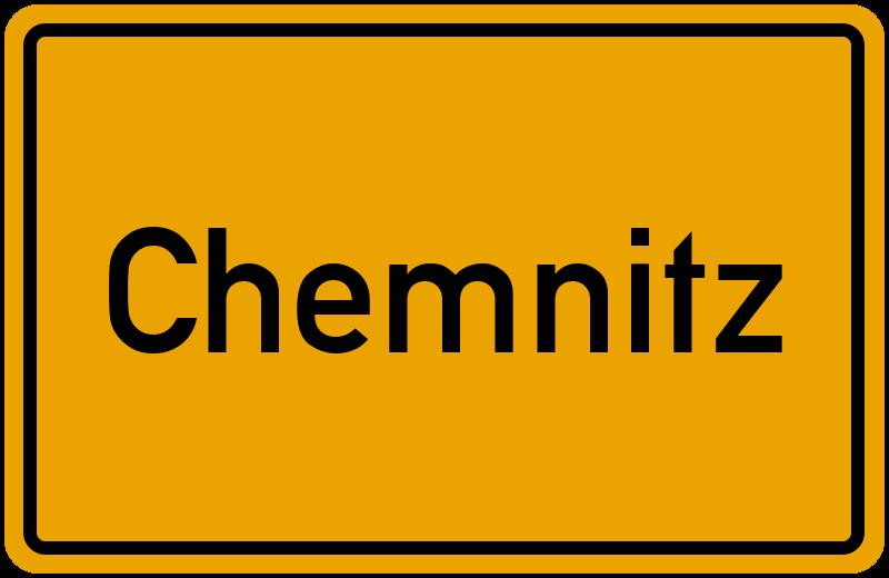 Ortsschild Chemnitz