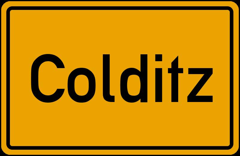 Ortsschild Colditz