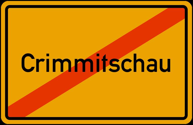 Ortsschild Crimmitschau