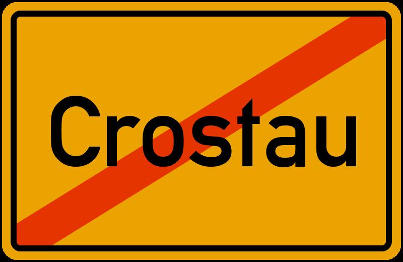 Ortsschild Crostau