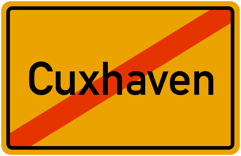 Ortsschild Cuxhaven