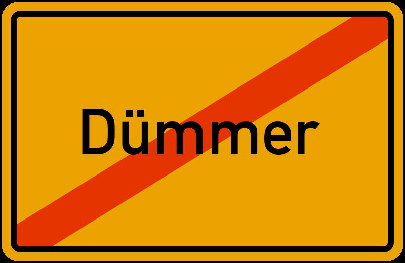Ortsschild Dümmer