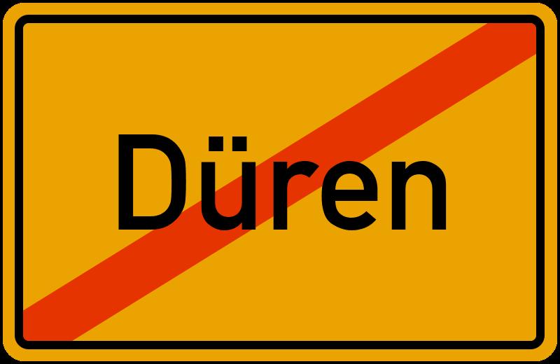 Ortsschild Düren