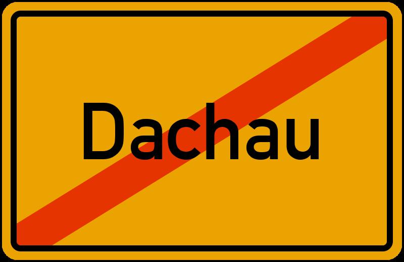 Ortsschild Dachau