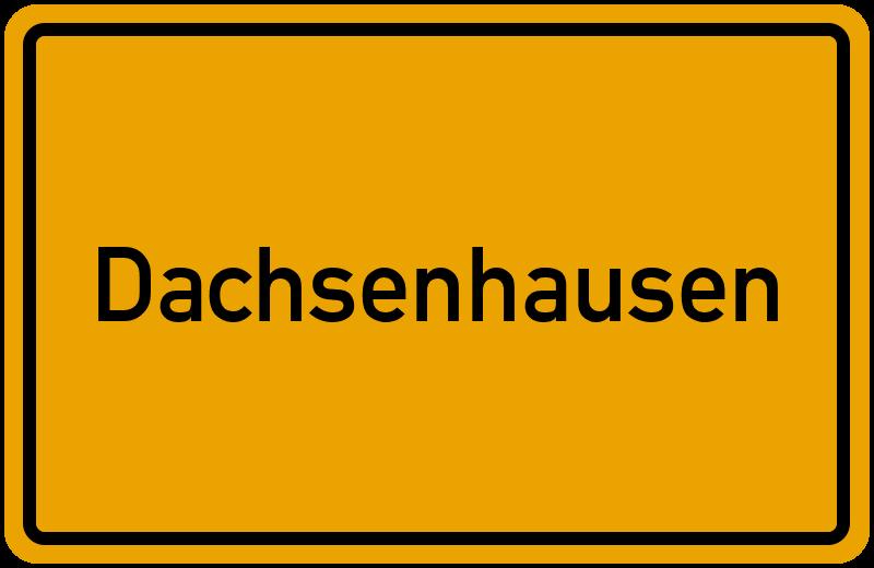 Ortsschild Dachsenhausen