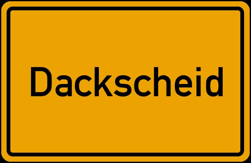 onlinestreet Branchenbuch für Dackscheid