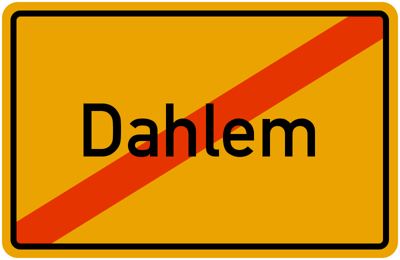 Ortsschild Dahlem