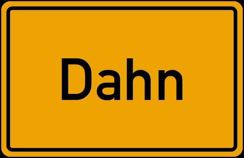 Ortsschild Dahn