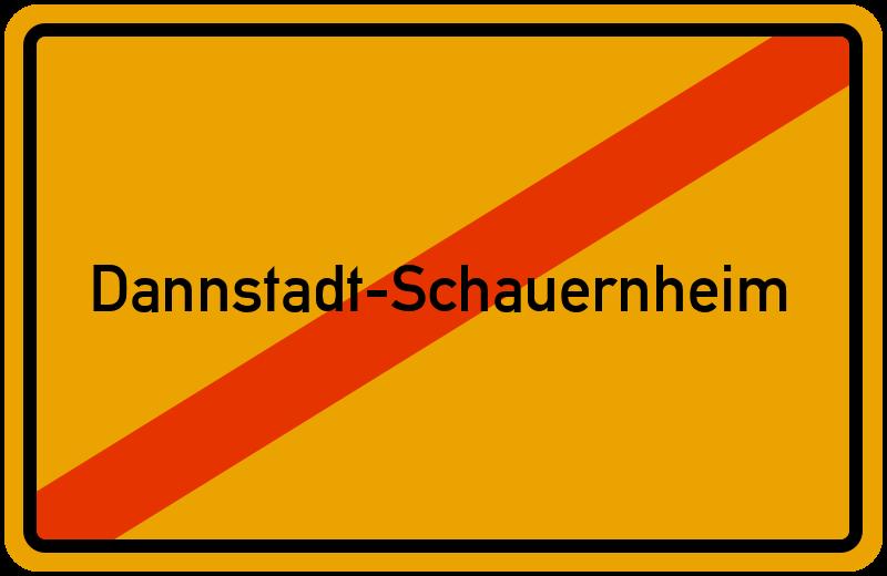 Ortsschild Dannstadt-Schauernheim