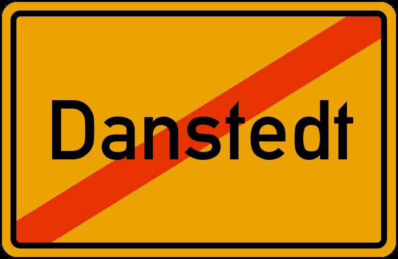 Ortsschild Danstedt