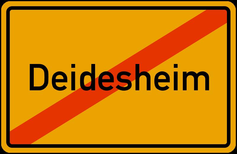 Ortsschild Deidesheim