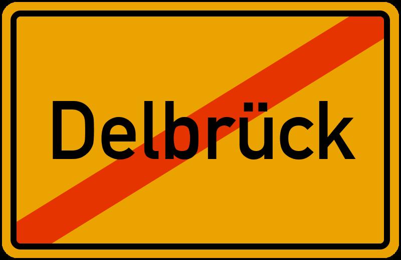 Ortsschild Delbrück