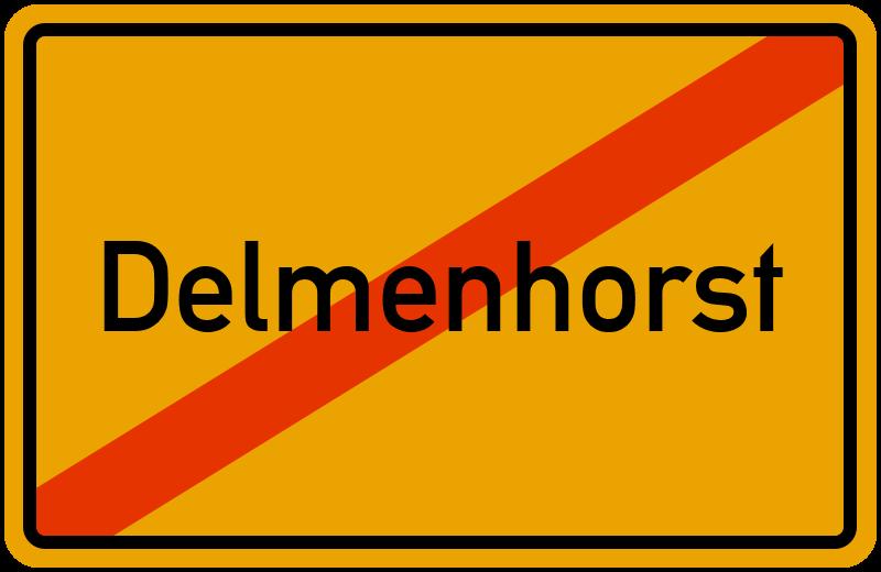 Ortsschild Delmenhorst