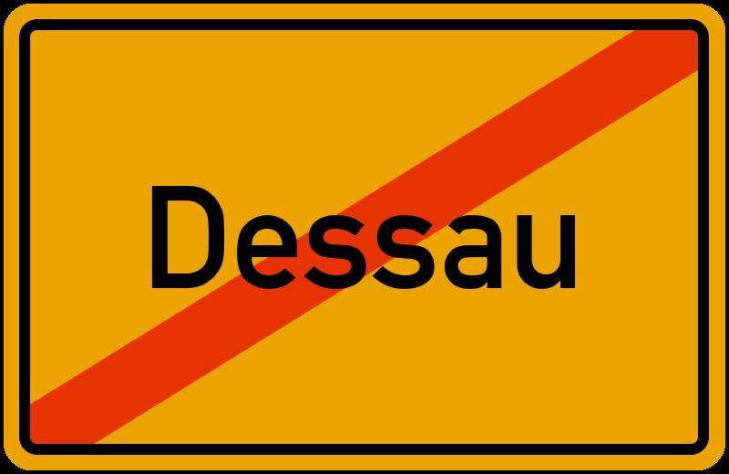 Ortsschild Dessau