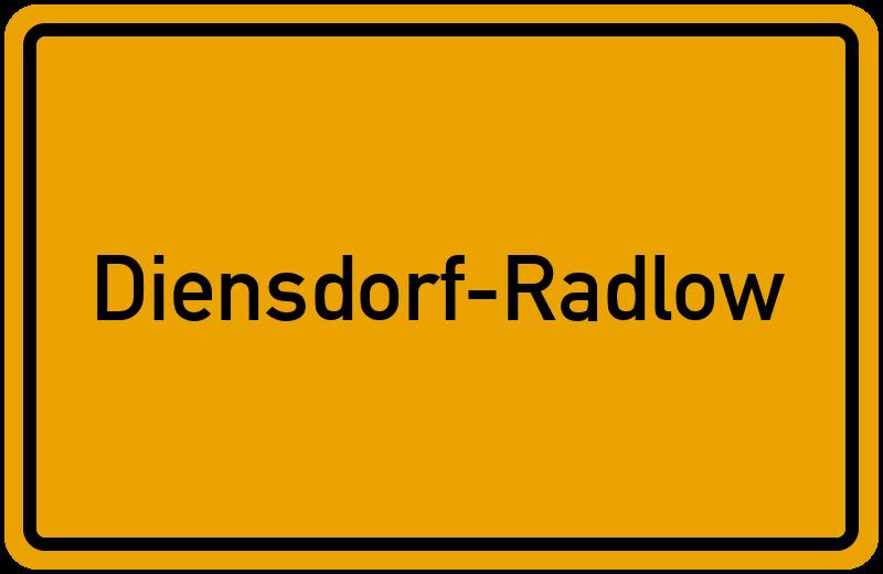 Ortsschild Diensdorf-Radlow