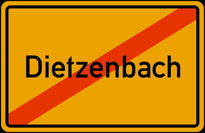 Ortsschild Dietzenbach