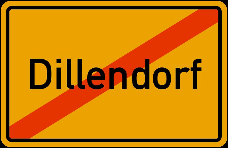 Ortsschild Dillendorf