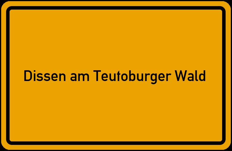 Ortsschild Dissen am Teutoburger Wald