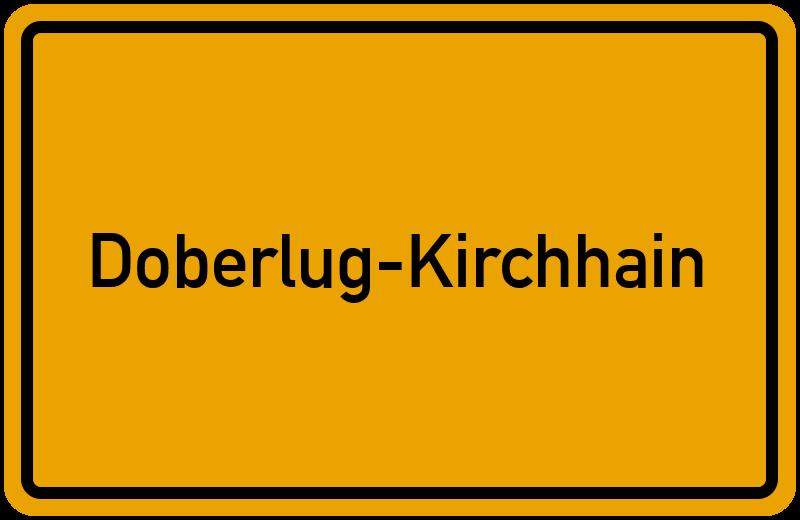 Ortsschild Doberlug-Kirchhain