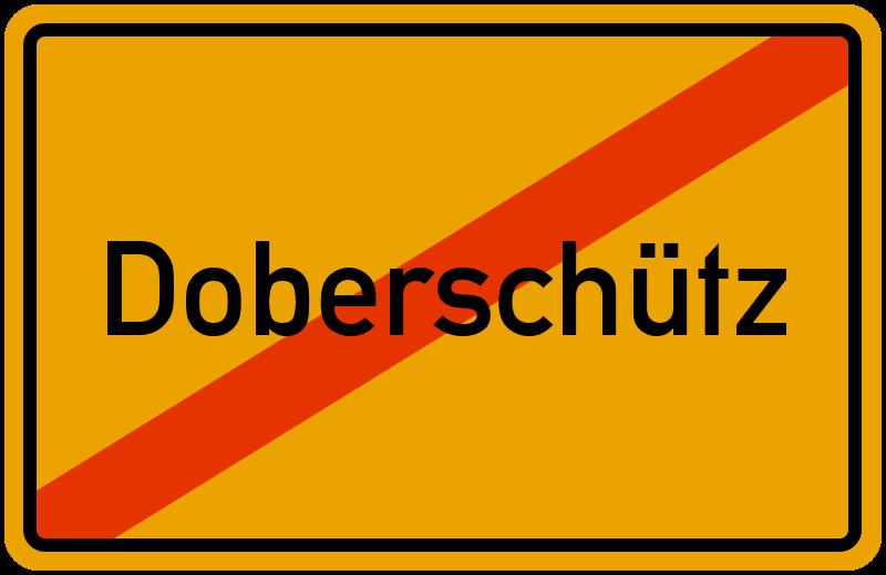 Ortsschild Doberschütz