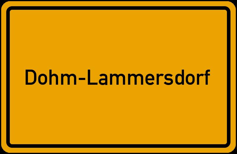 Ortsschild Dohm-Lammersdorf
