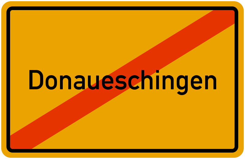 Ortsschild Donaueschingen
