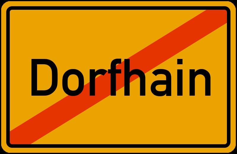 Ortsschild Dorfhain