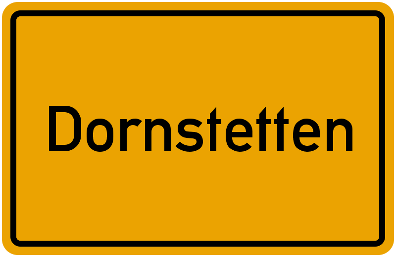 Ortsschild Dornstetten