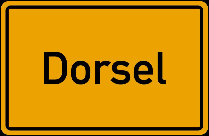 Ortsschild Dorsel
