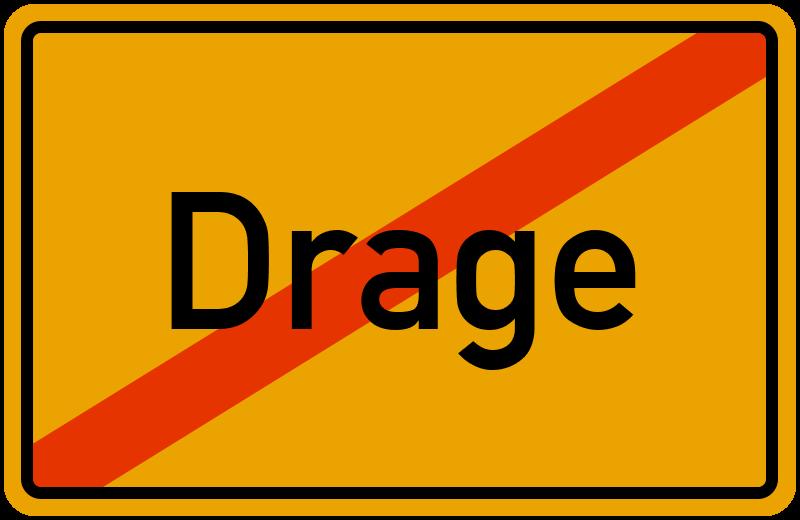 Ortsschild Drage