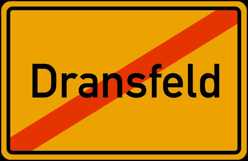 Ortsschild Dransfeld