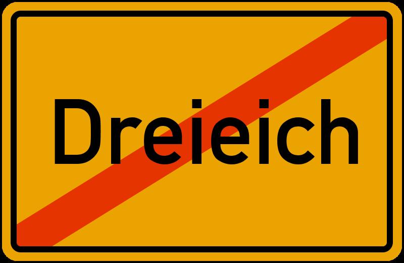 Ortsschild Dreieich