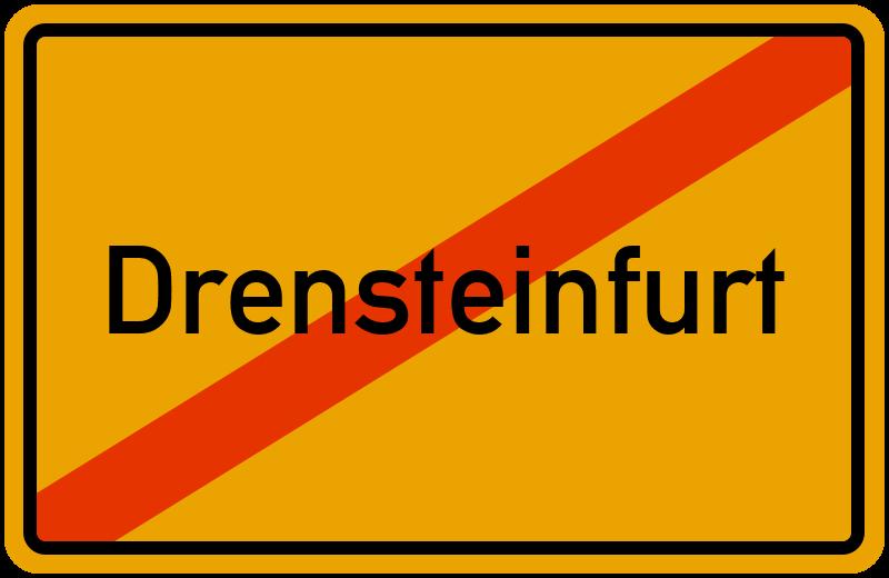 Ortsschild Drensteinfurt
