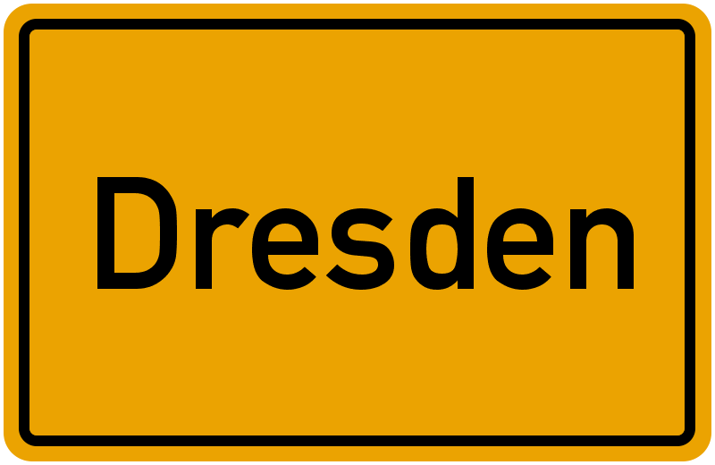 Ortsschild Dresden
