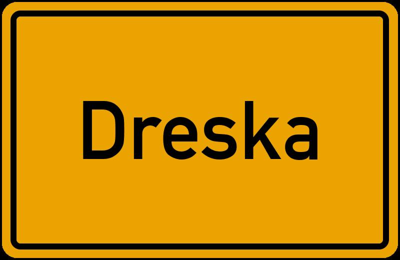 Ortsschild Dreska