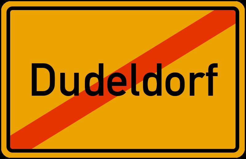 Ortsschild Dudeldorf kostenlos: Download & Drucken