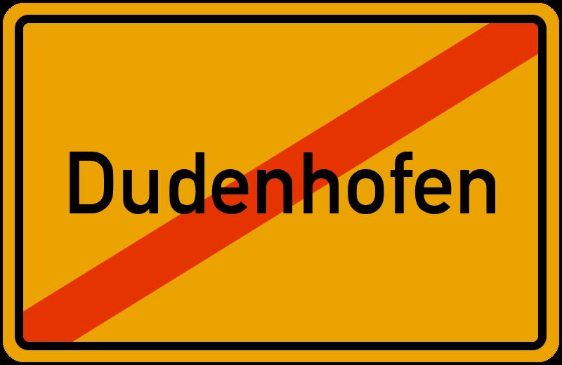 Ortsschild Dudenhofen