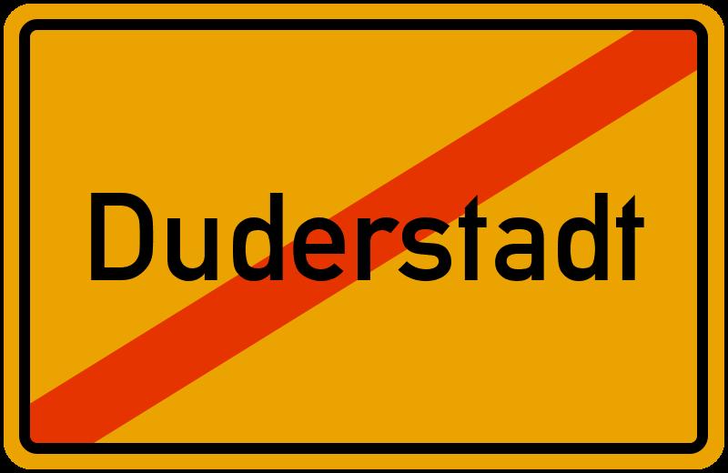 Ortsschild Duderstadt