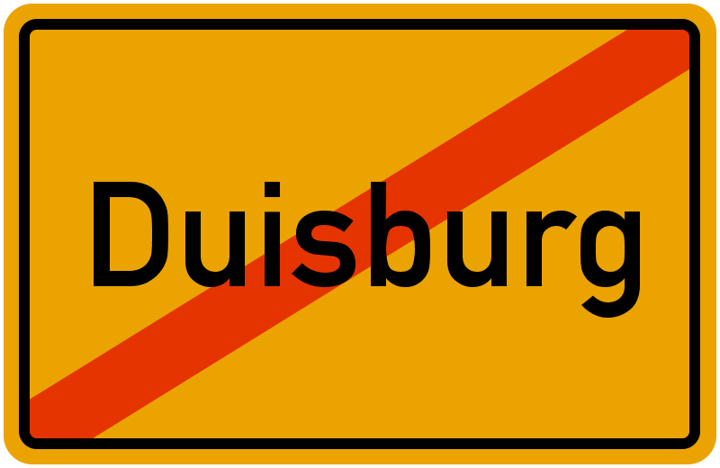 Ortsschild Duisburg
