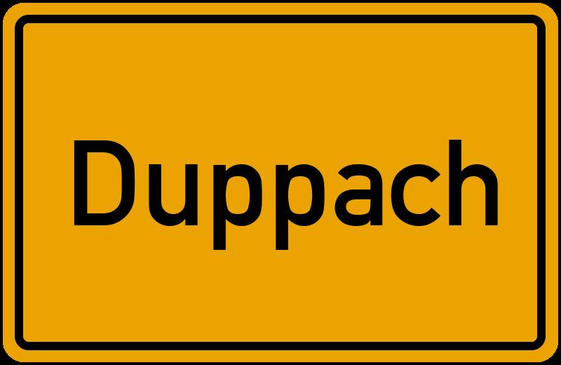 Ortsschild Duppach