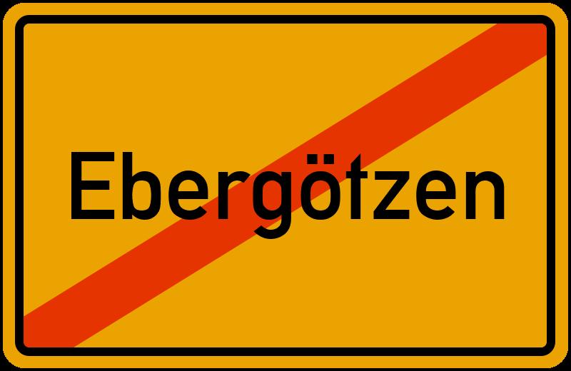 Ortsschild Ebergötzen
