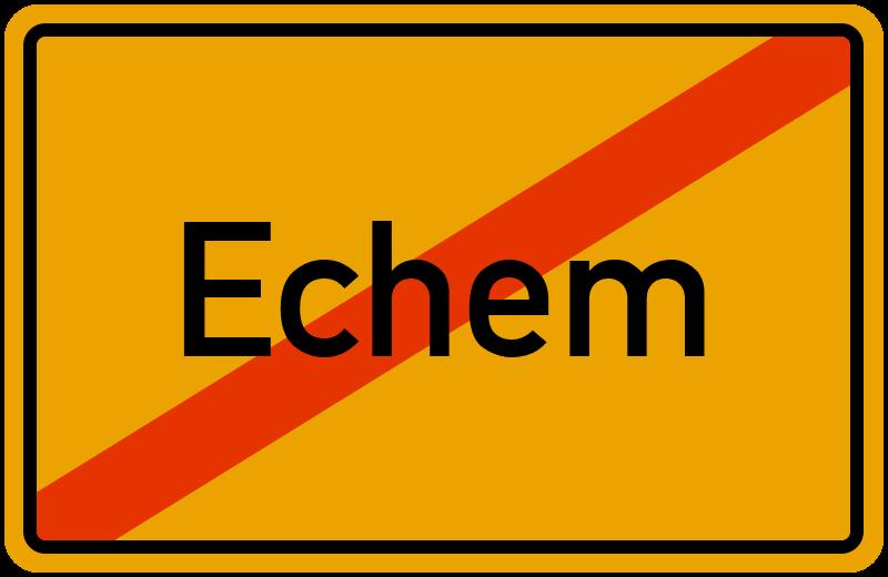 Ortsschild Echem